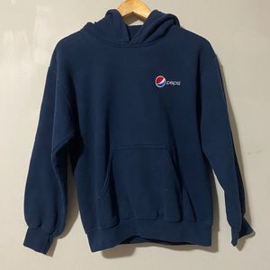 Gildan Embroided Pepsi Design Pullover Hoodie sz S